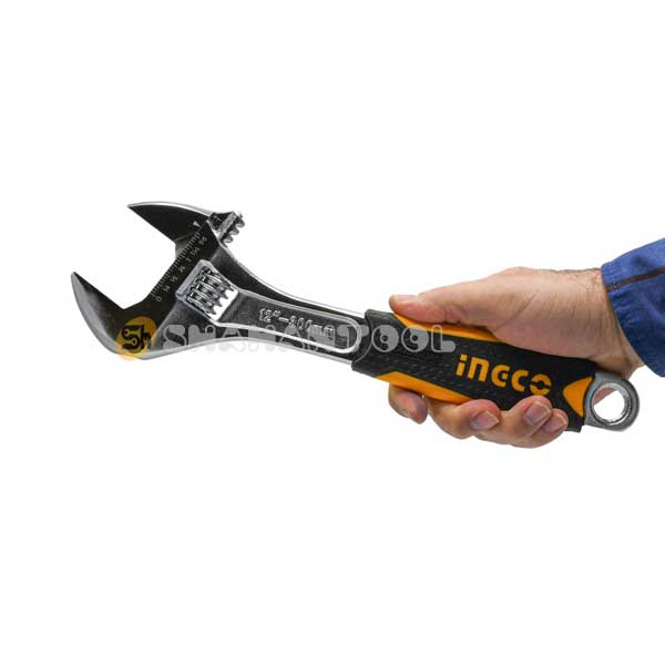 اندازه آچار فرانسه 12 اینچ روکش دار صنعتی اینکو مدل HADW131128